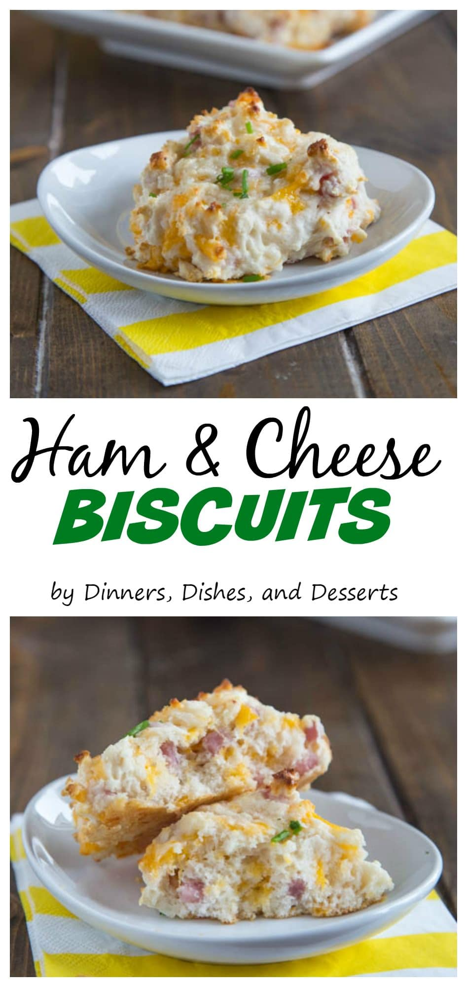 """data-recalc-dims=1>Ham & Cheese Biscuits – Fluffy drop biscuits full of cheddar cheese and diced ham. A great side dish, or use of leftover ham."""" width=""""625″ height=""""2000″></div><p>This is a sponsored conversation written by me on behalf of Betty Crocker via Burst Media. The opinions and text are all mine.</p><div class="""