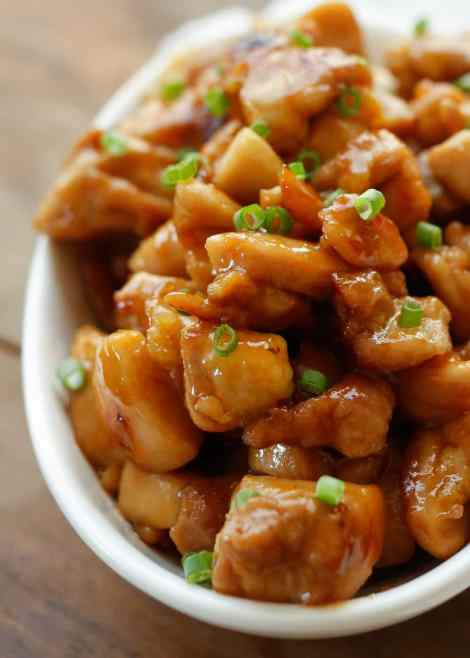 Sweet and just a little bit spicy, these Honey Sriracha Chicken Bites disappeared lightning fast. Tender, bite size chunks of chicken cook in just minutes and then are tossed with an irresistible sticky glaze.