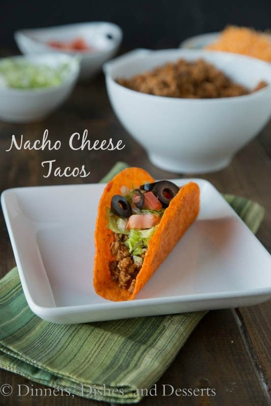 Nacho Cheese Tacos - Did you know that you can make Nacho Cheese flavored tacos at home. No more going out for fast food!