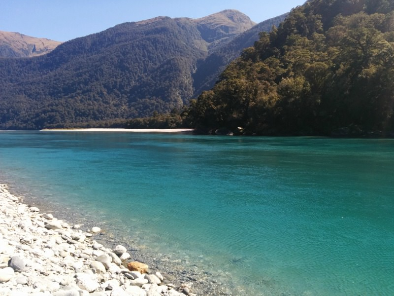 River along Haast Pass near Wanaka New Zealand