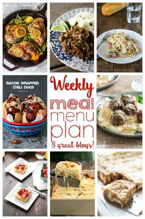 Weekly Meal Plan Week 3: 6 dinner recipes and 2 desserts from 8 top bloggers!
