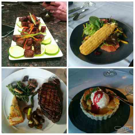 Amazing food prepared by the chefs at Certified Angus Beef