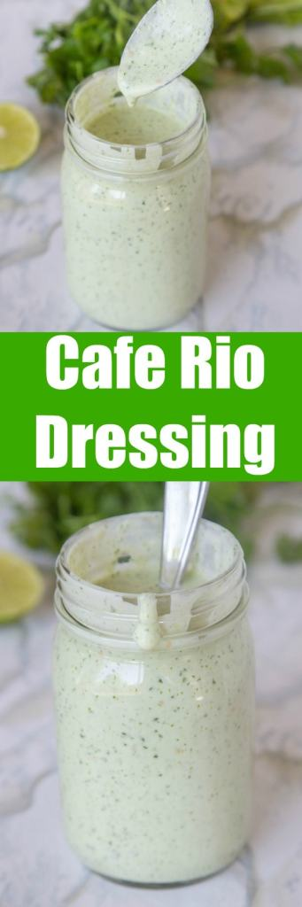 Cafe Rio dressing - A homemade version of the Cafe Rio tomatillo dressing. So good, and great for topping just about anything!