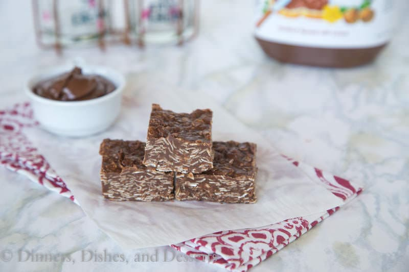 Nutella No Bake Bars {Dinners, Dishes, and Desserts}