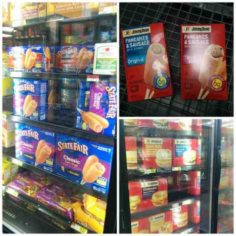 One stop shopping at Walmart for quick morning breakfast and afterschool snacks!
