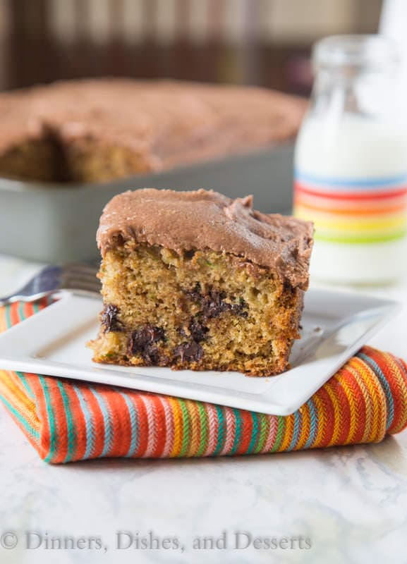 Chocolate Chip Zucchini Cake