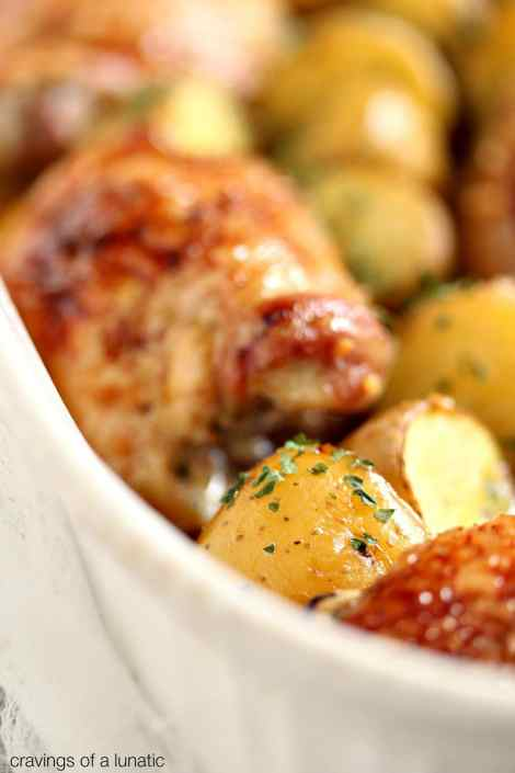 Honey Baked Chicken and Potatoes {Cravings of a Lunatic}