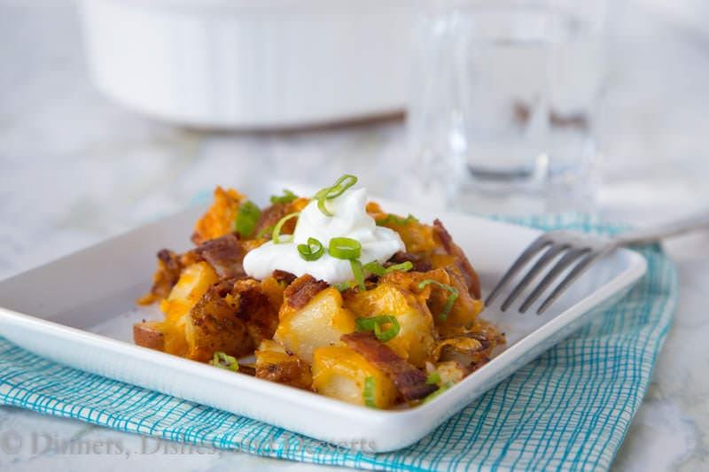Loaded Chicken Casserole {Dinners, Dishes, and Desserts}