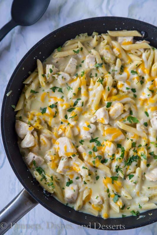 http://www.kevinandamanda.com/recipes/dinner/creamy-salsa-verde-chicken-pasta.html