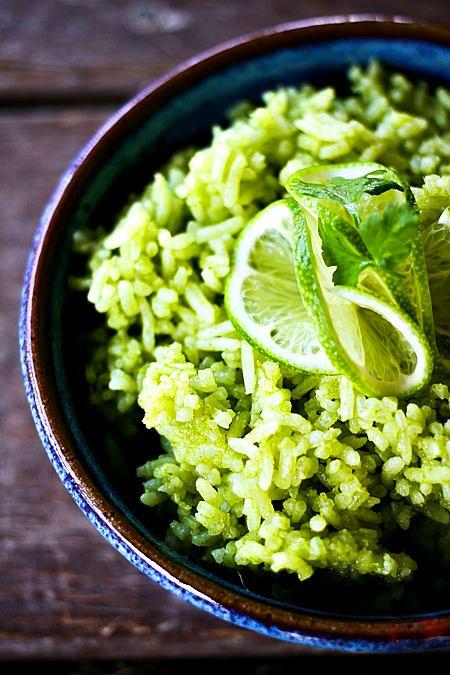 Cilantro Scallion Lime Rice {Foodie with Family}