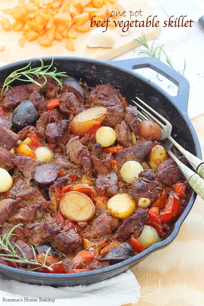 One Pot Beef and Vegetable Skillet {Roxana's Home Baking}