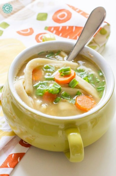 Semi-Homemade Chicken Noodle Soup {Sweet C's Designs}