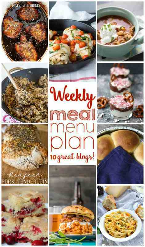 Weekly Meal Plan Week 20 - 10 great bloggers bringing you a full week of recipes including dinner, sides dishes, and desserts!