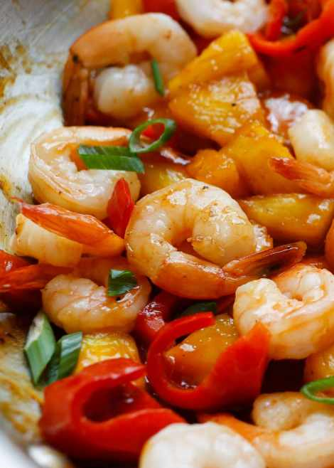Pineapple BBQ Shrimp {Barefeet in the Kitchen}
