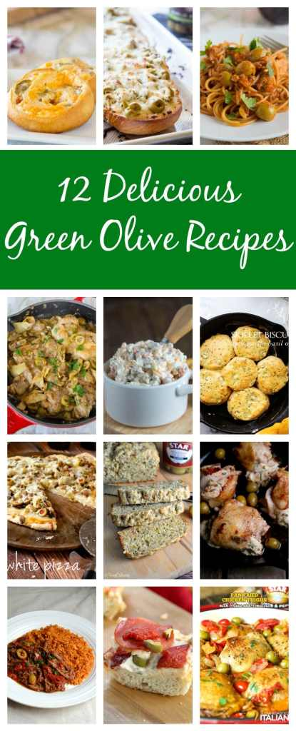 12 Green Olive Recipes - 12 recipes that are a must made for any olive fans in your life!