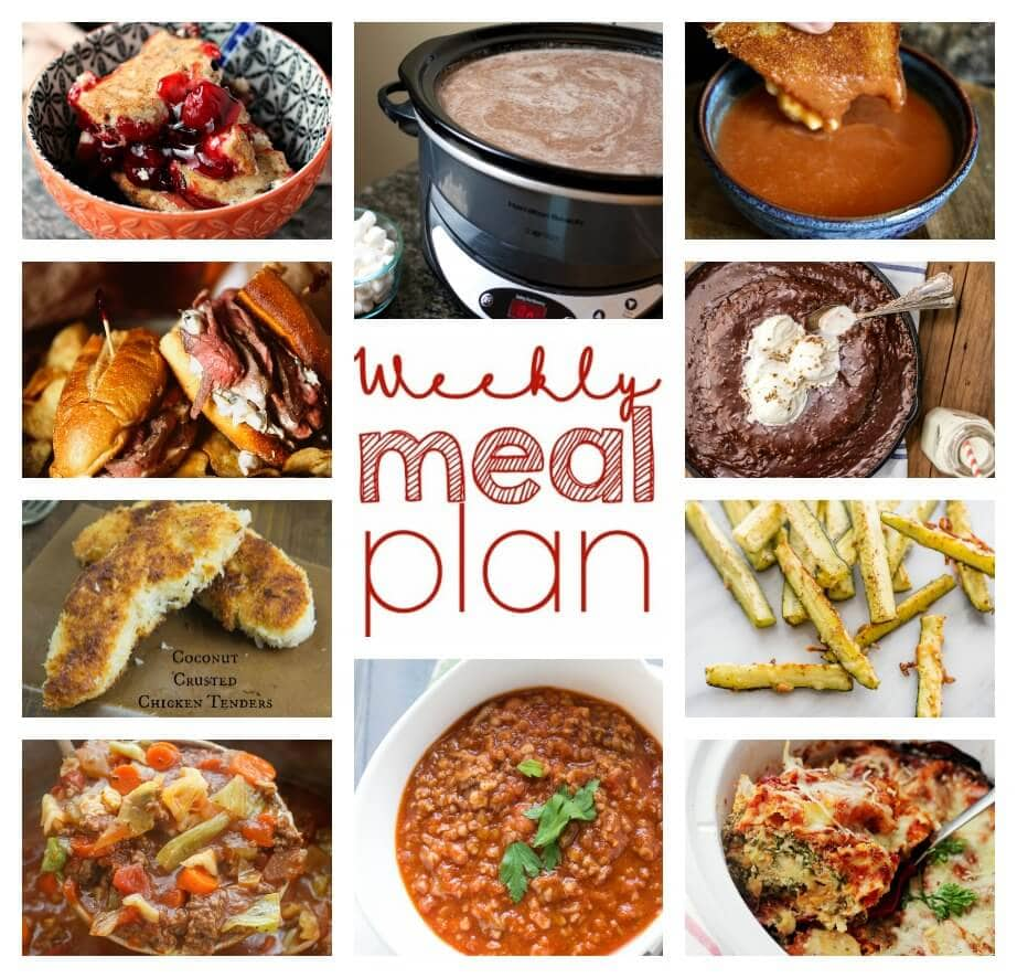 Weekly Meal Plan Week 32 - 10 great bloggers bringing you a full week of recipes including dinner, sides dishes, and desserts!