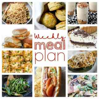 Weekly Meal Plan Week 25 - 10 great bloggers bringing you a full week of recipes including dinner, sides dishes, and desserts!