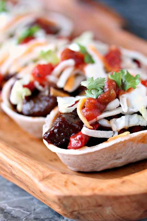 Steak Bites Mini Taco Boats {Cravings of a Lunatic}