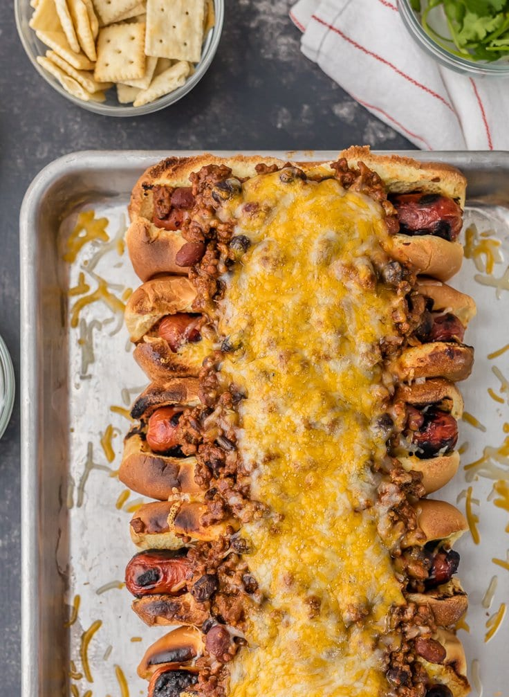 Best Ever Chili Dogs {The Cookie Rookie}