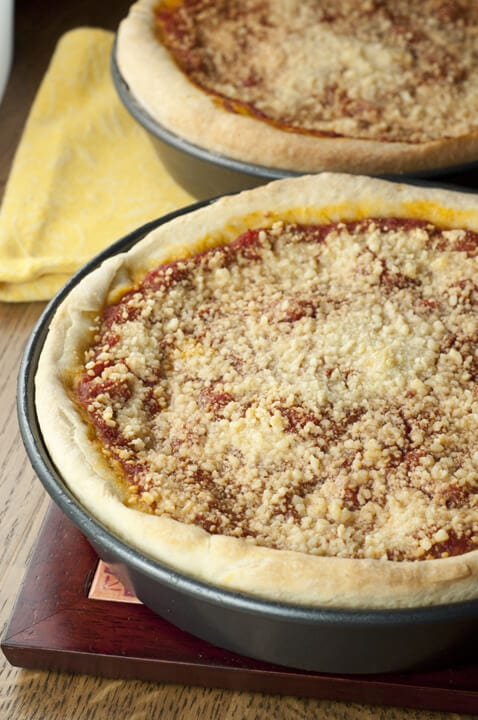 Chicago Style Deep Dish Pizza {Wishes and Dishes}