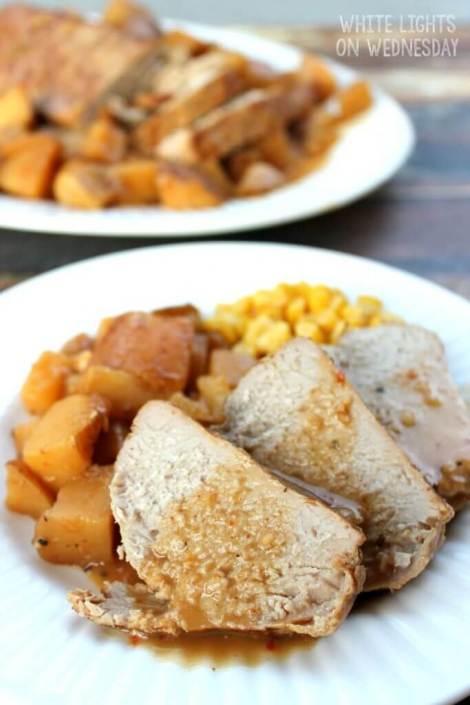 Balsamic & Red Pepper Crock Pot Pork Tenderloin {White Lights on Wednesday}