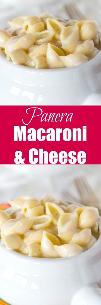 Panera Mac and Cheese Copycat Recipe - Thick and creamy homemade stovetop macaroni and cheese that tastes just like what you get at Panera!  So quick and easy your family is going to want this for dinner tonight!
