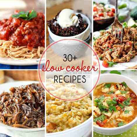 30 Slow Cooker Recipes - so many great recipes that use your crock pot. Everything from dinners to desserts to get you through the rest of winter!
