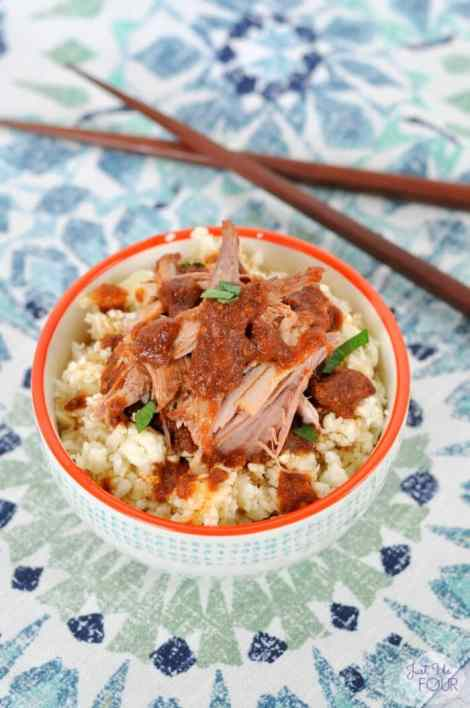 Slow Cooker Chinese Pork {Just Us Four}