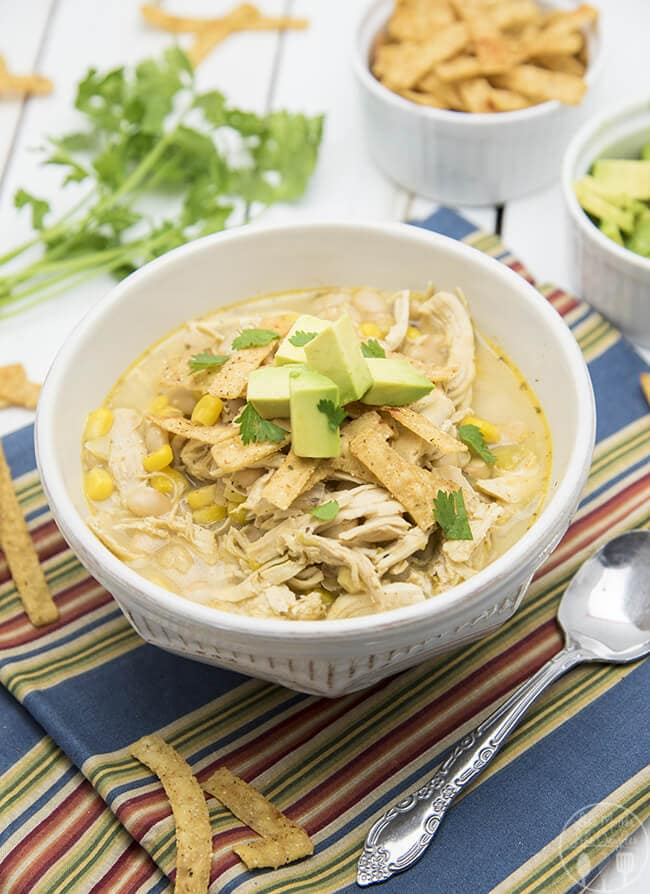 Slow Cooker White Chicken Chili {Like Mother Like Daughter}