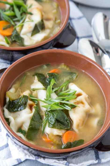 Hot and Sour Potsticker Soup {Yellow Bliss Road}