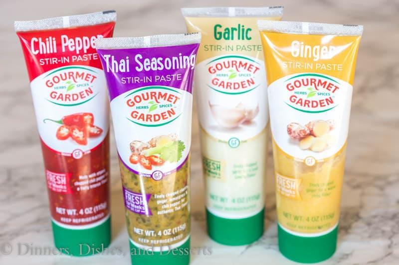 Gourmet Garden Herbs for Spicy Thai Noodles with Chicken