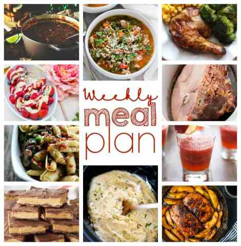 Weekly Meal Plan Week 35 - 10 great bloggers bringing you a full week of recipes including dinner, sides dishes, and desserts!