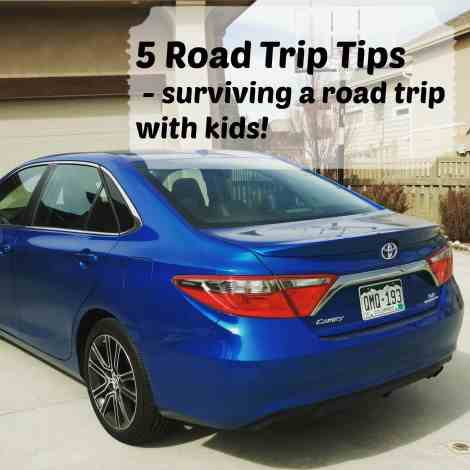 5 Tips for surviving a road trip with kids - 5 road trip tips to make your road trip a success, even with kids! So you can take that summer vacation or spring break trip this year!