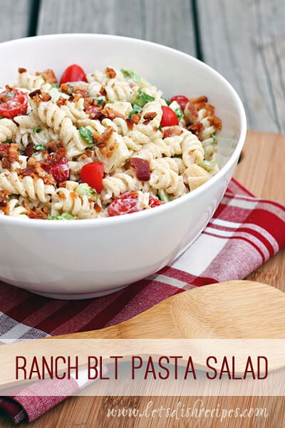 Ranch BLT Pasta Salad {Let's Dish}