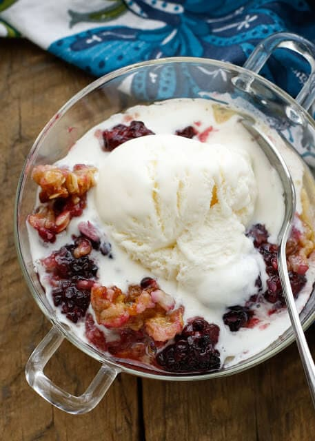 Blackberry Coconut Crisp {Barefeet in the Kitchen}