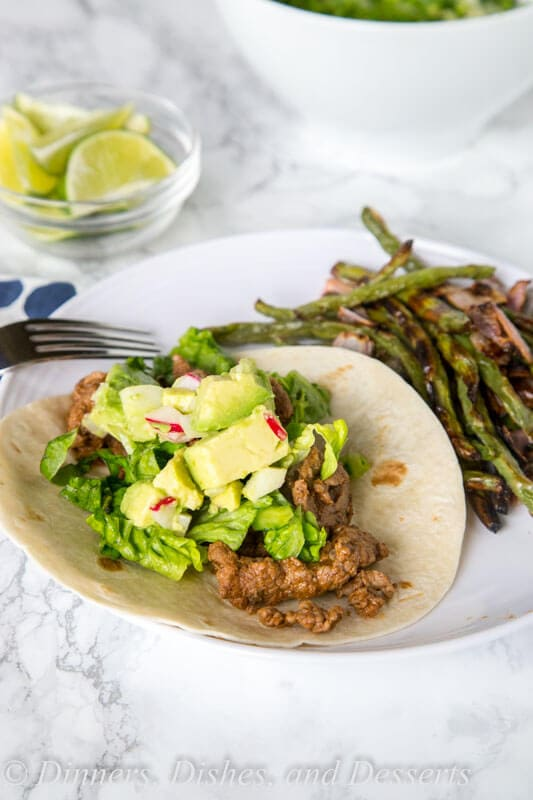 Blue Apron Review: Beef Tacos with Roasted Green Beans