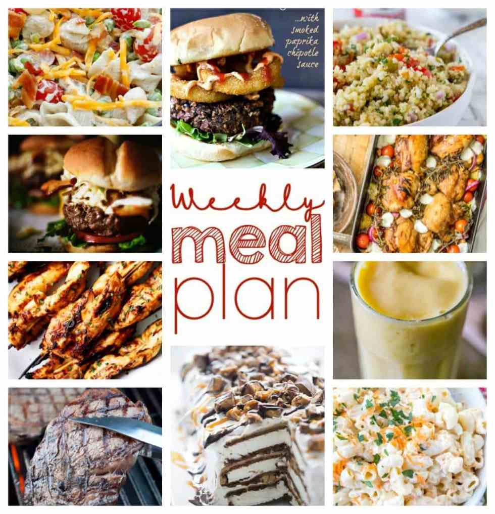 Weekly Meal Plan Week 50 - 10 great bloggers bringing you a full week of recipes including dinner, sides dishes, and desserts!