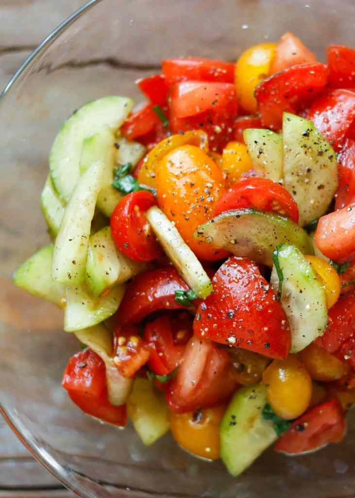 Cucumber Tomato Salad {Barefeet in the Kitchen}