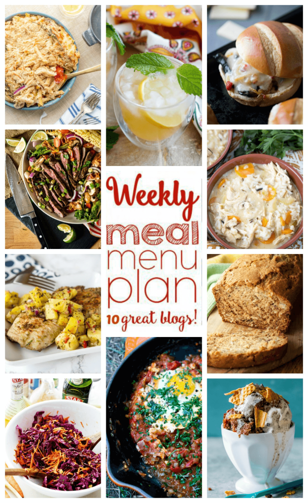 Weekly Meal Plan Week 60 – 10 great bloggers bringing you a full week of recipes including dinner, sides dishes, and desserts!