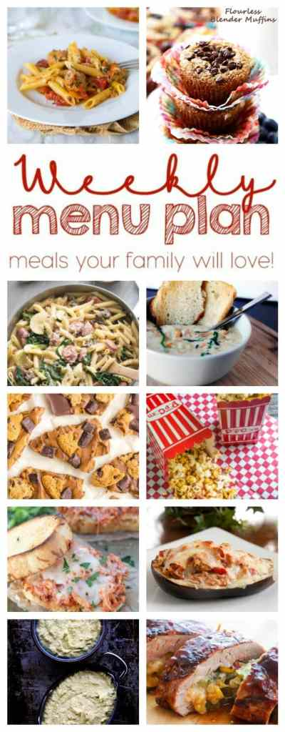 Weekly Meal Plan Week 61 – 10 great bloggers bringing you a full week of recipes including dinner, sides dishes, and desserts!
