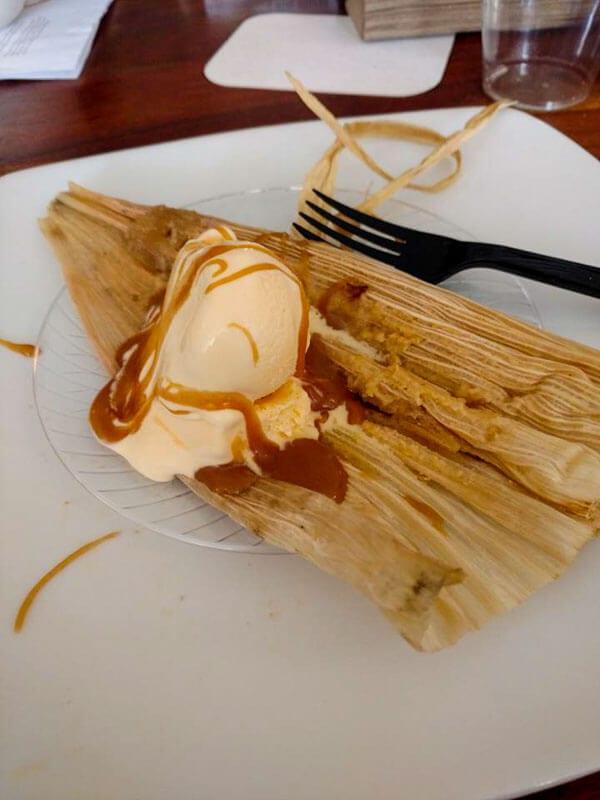 The dessert apple pie tamales were so good!