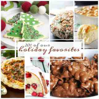 Favorite Holiday Recipes - Over 20 recipes that are perfect for the holiday season! Everything from main dishes to desserts, we have you covered!