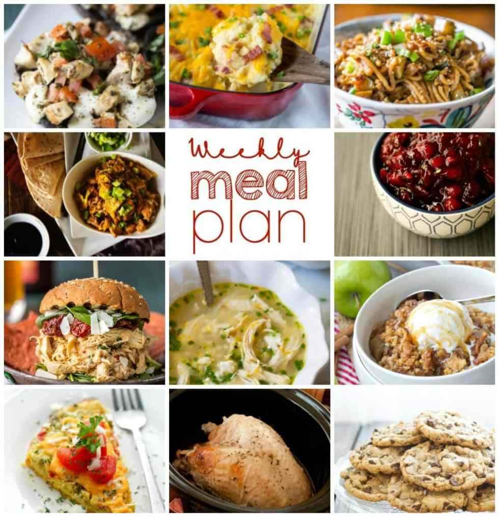 Weekly Meal Plan Week 70 – 11 great bloggers bringing you a full week of recipes including dinner, sides dishes, and desserts!