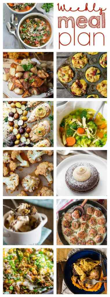Weekly Meal Plan Week 78 – 11 great bloggers bringing you a full week of recipes including dinner, sides dishes, and desserts!