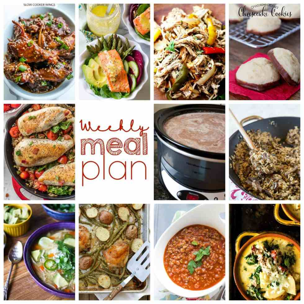 Weekly Meal Plan Week 81 – 11 great bloggers bringing you a full week of recipes including dinner, sides dishes, and desserts!