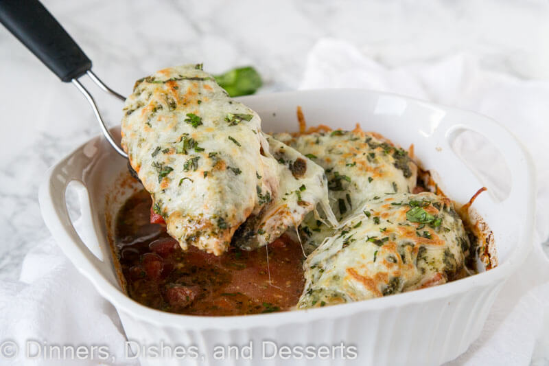Italian Chicken Bake - just 5 simple ingredients for a delicious, cheesy, and perfect dinner dinner for any night of the week.