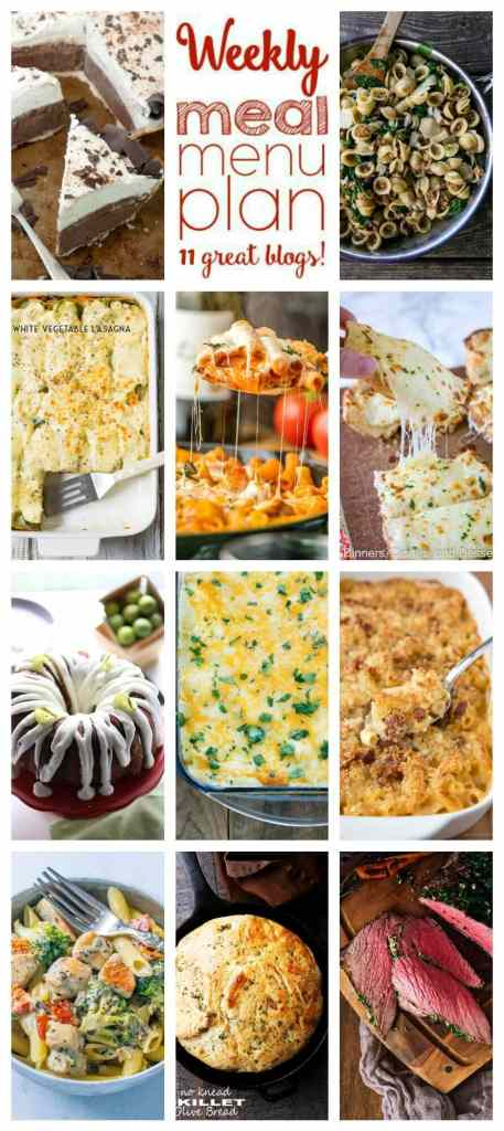 Weekly Meal Plan Week 89 - 11 great bloggers bringing you a full week of recipes including dinner, sides dishes, and desserts!