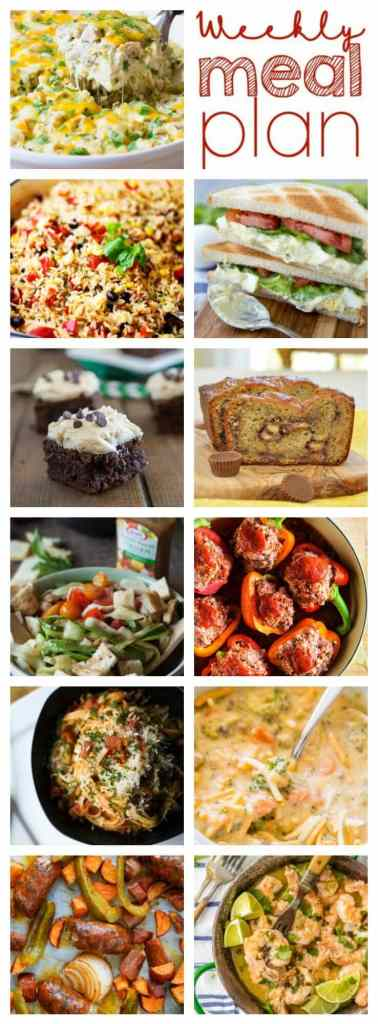 Weekly Meal Plan Week 85 – 11 great bloggers bringing you a full week of recipes including dinner, sides dishes, and desserts!