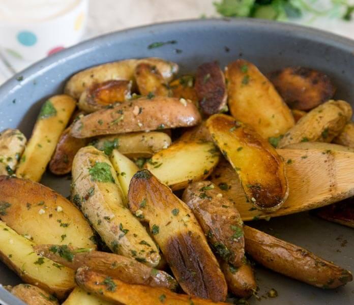 Pan Seared Mojo Potatoes