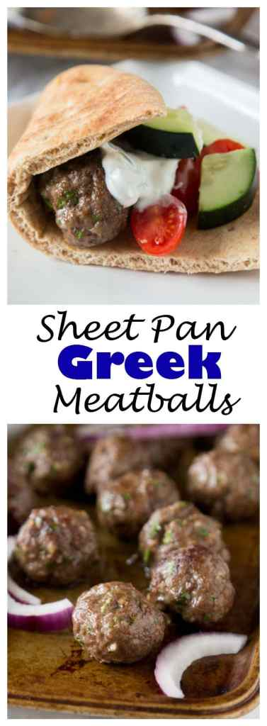 A close up of food, with Meatball and Sheet pan